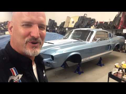 On her Jack stands Oscar's 1967 Shelby GT350 Mustang Fastback – Day 5
