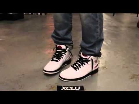 Cheap Wholesale 2014 Nike Air Jordan 1 Retro 86 Color White Gym Red Black   On Feet Video Exclucity