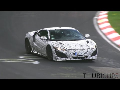 Last laps of the 2015 Honda NSX before it burned down on 24-7-2014