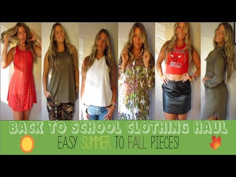 Back To School Summer to Fall Shopping Haul and Try On!