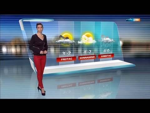 Stephanie Meissner   tight red Leather Pants & High Heels 29 01 2014