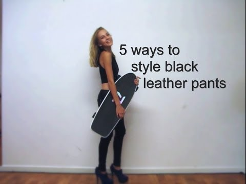 5 ways to style black leather pants