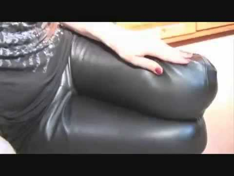 girls in leather pants and gloves
