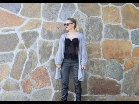 Outfit Of The Week – Knit & Leather