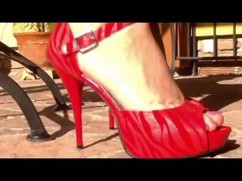 my red sandals