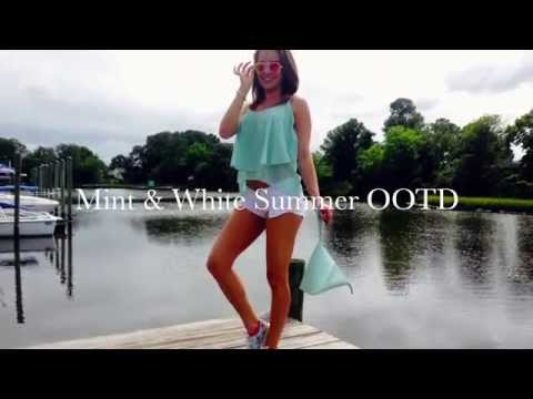 White Shorts & Mint Everything Outfit♡OOTD 64