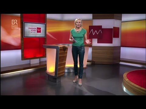 Julia Büchler  tight black Leather Pants & High Heels 13 08 2014