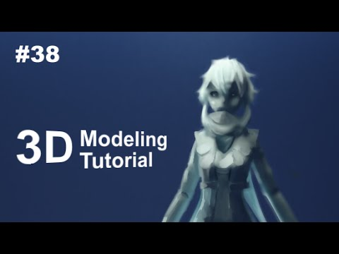 [Part 38/ 40] Anime Character 3D Modeling Tutorial II – Scarf