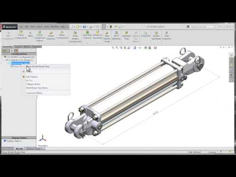 SolidWorks 2015 Tutorial – Break Views In Drawings