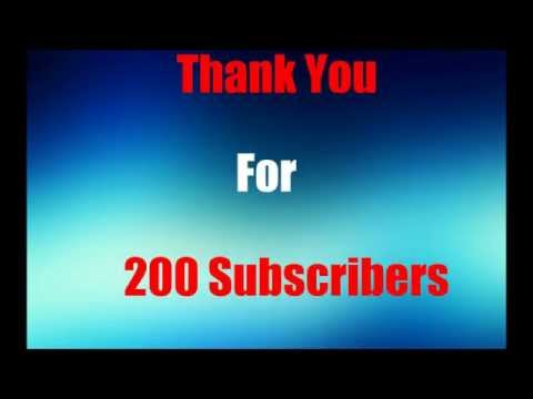Thank you for 200 subscribers