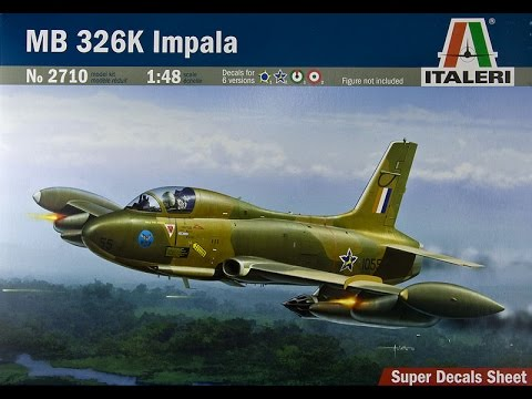 Italeri 1/48 scale Aeromacchi MB236 Impale Build update 1