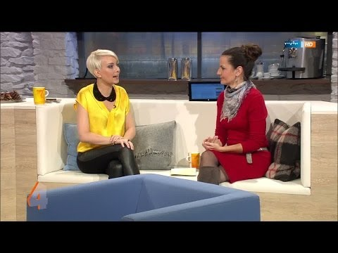 Susanne Klehn   tight black Leather Leggings yellow Satinblouse & High Boots 27 01 2014