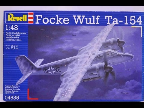 In Box Review Revell 1:48 scale Focke Wulf Ta-154
