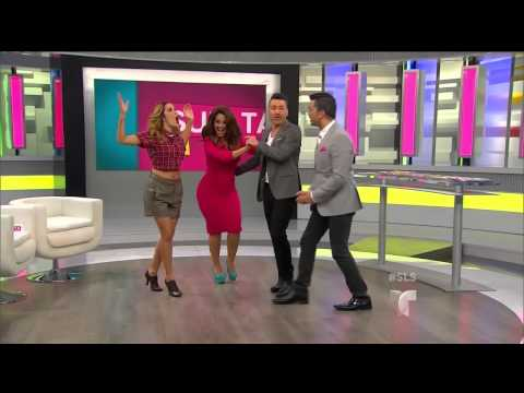 Carolina Sandoval cleavage, BOOTY, thick hips, legs & high heels (10-17-14)