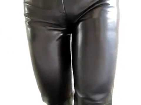 Alice Nurse in black patent pants