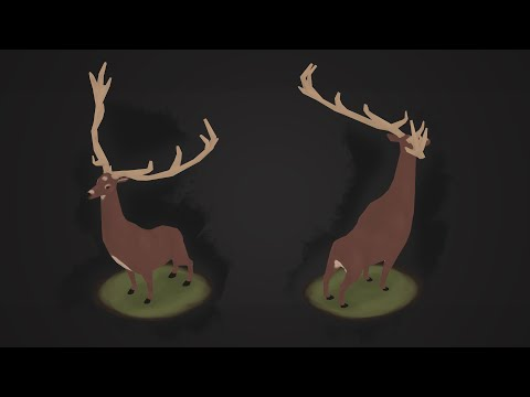 | PigArt | BLENDER Low Poly: Stylized Deer