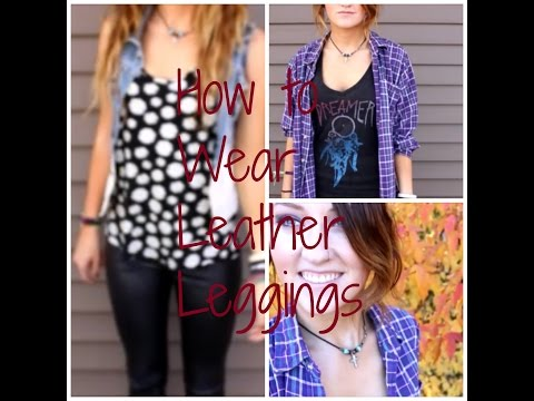 5 Ways To Wear Liquid Leggings- Fall Edgy Style