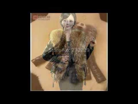 Queenshiny Women's 100% Real Sheep Leather and Fox Fur Vest with Fox Collar
