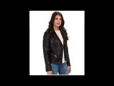 Levi's Women's Outerwear Cropped Leather Moto Jacket