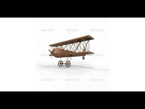Preview Carved Wooden Airplane Model and Base Mesh