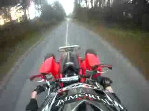 honda trx 450 sit down wheelies