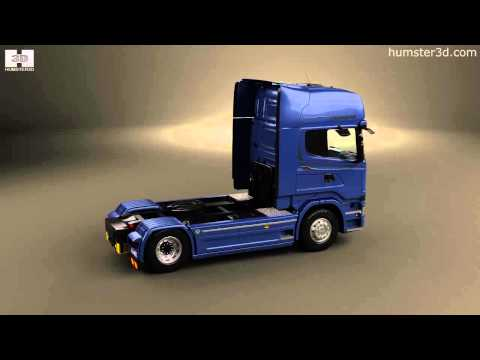 Scania R 730 Tractor Truck 2013 by 3D model store Humster3D.com