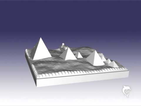 3d model of the giza pyramids more printable in sandstone