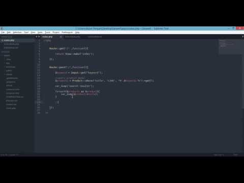 laravel 4 example –  Search Form and Results – Products