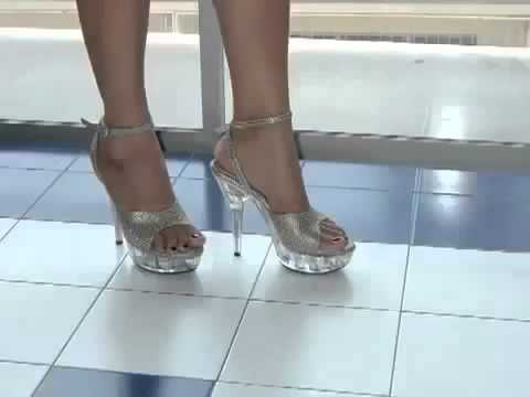 shoes, girls High Bilder women high Heels rote, Pumps glitzer heels Video in Plateau silbe