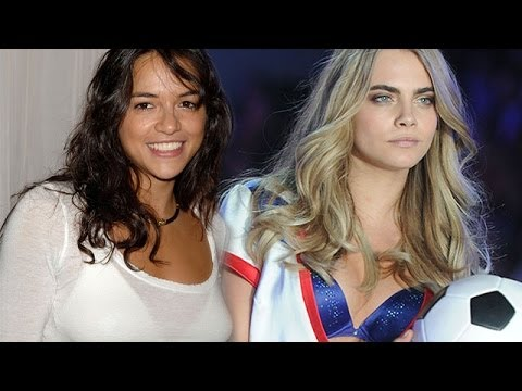 Michelle Rodriguez — Oops! I Lost My Pants … in the Limo with Cara Delevingne