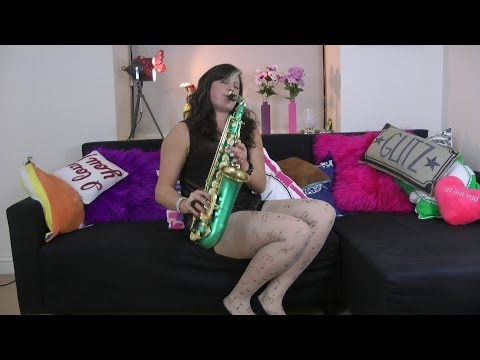 Lucy gets all musical with a pair of Music Note Tights