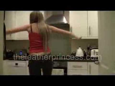 Dancing in Tight Leather Trousers in the Kitchen