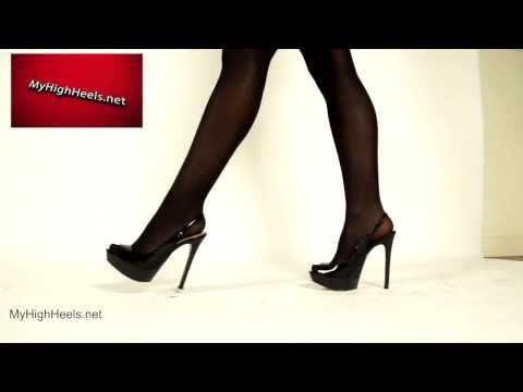 Stiletto high heels shoes and stockings 3