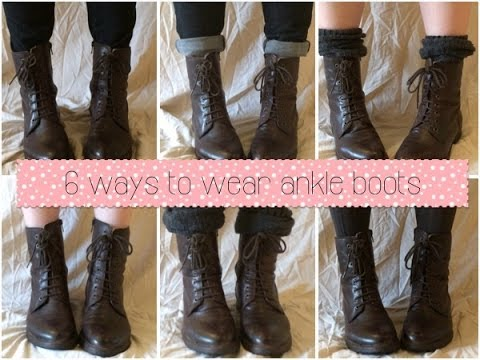 6 easy ways to wear ankle boots/ankle booties! / Holly