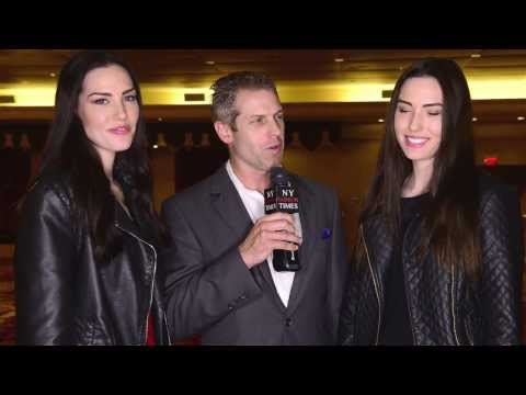 Twin models Hannah Stacy & Leah Stacy prep up for StyleFashionWeek