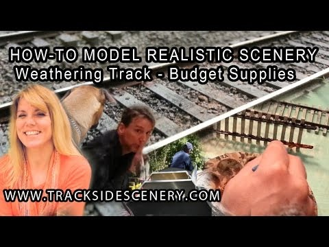 How-To Model Realistic Model Railroad Scenery – Weathering Track – Budget Supplies