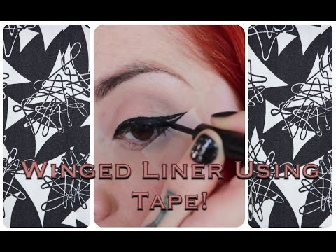 EASY! Vintage Winged Eyeliner Tutorial Using Tape! by CHERRY DOLLFACE