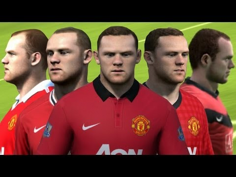 Wayne Rooney from FIFA 04 to 14 Face Rotation and Stats | HD 1080p