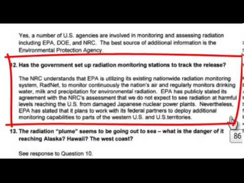Fukushima Plume Gate Cover up Conspiracy Update (20 October 2012)