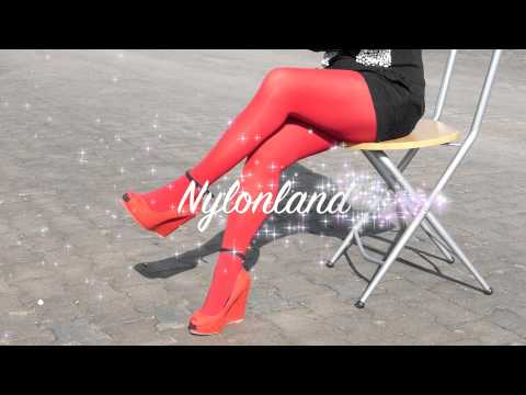 Nylonland Outtakes red nylons