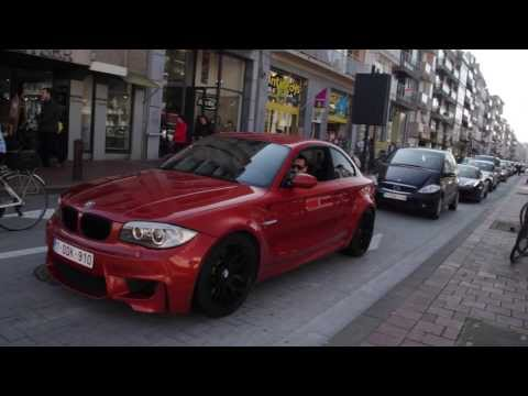 BMW 1M coupe with Akrapovič Downpipes – Small acceleration