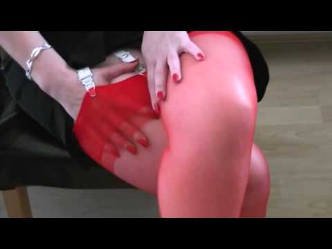 Dangling high heels and red stockings