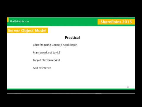 SharePoint 2013 Training on Server Object Model Session 02 by Stay Green Academy