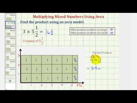 Ex: Find a Product of a Whole Number and Mixed Number Using Area