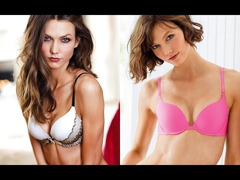Karlie Kloss Flaunts her Sexy Cleavage in VS Bra – Part2