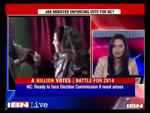 J&K minister Sakina seen in a video forcing an old man to vote for her